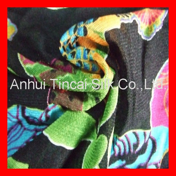 Knitted Rayon Printed Fabric