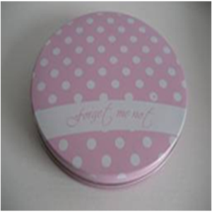 Good Quality Cute Pink Polka Dot Design Tin Box