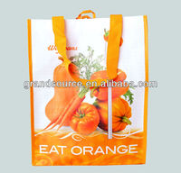 Recycled Silkscreen PP Handled Nonwoven Bags with Strong Handles, for Shoes,Garment,Market
