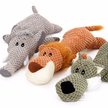 Black Dog Plush Animal Design Cotton Rope Durable Dog Chew Toys Ropes Pet Plush Rubber Ball Dog Squeaky Ball Toys Set Pack