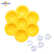 3D smile face custom silicone ice cube tray