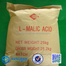 China gold supplier supply food grade natural malic acid/ l-malic acid