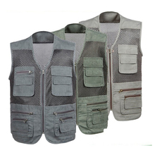 Custom high quality industrial safety working tool vest multi pockets safety work vest