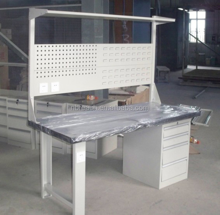 High Quality Industrial Metal Workbench with MDF /Stainless/ Wood top