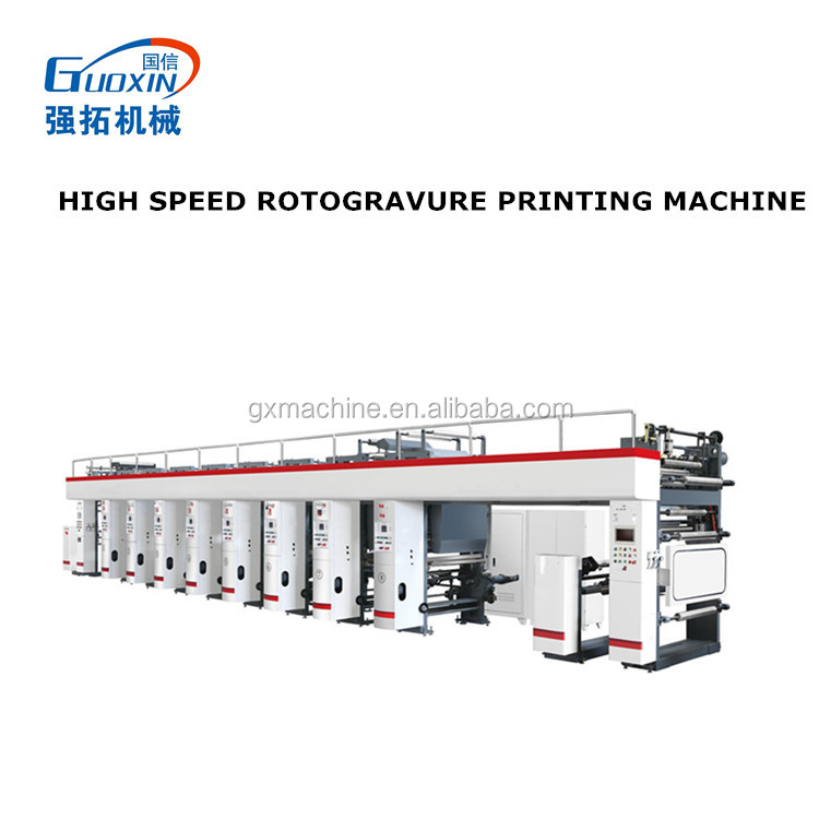 Good quality OPP/ BOPP/ PP plastic film gravure printing machine