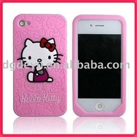 hello kitty silicone case for iphone 4, 5, 5s, 6, 6plus