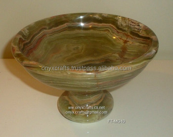 Dark Green Onyx Fruit Dish in cheap price
