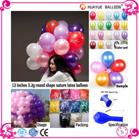 wholesale high quality printing party decoration metallic round latex inflatable rubber balloons