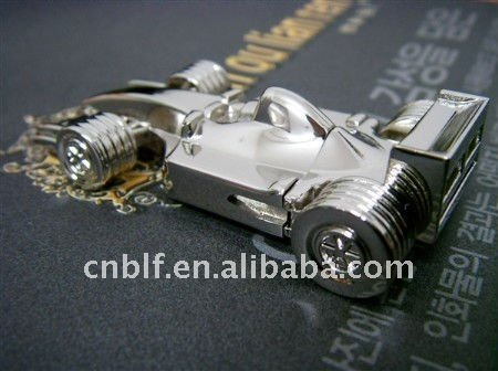 Stainless steel F1 racing car usb flash drive, creative thumbdrive