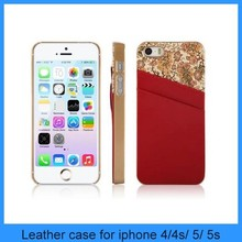 New arrive Vintage Print Genuine Leather Case cover for iphone5/5S
