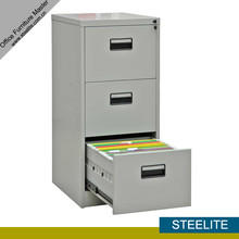 2014 popular 3 drawer vertical metal file cabinet for hanging folder / 3 drawer steel filing cabinet specifictions under desk