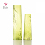 New design Glass Tall Clear Color Decoration Vase