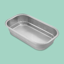 High quality smooth wall aluminum airline foil food container