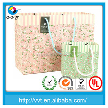 Small floral style hang paper gift bag
