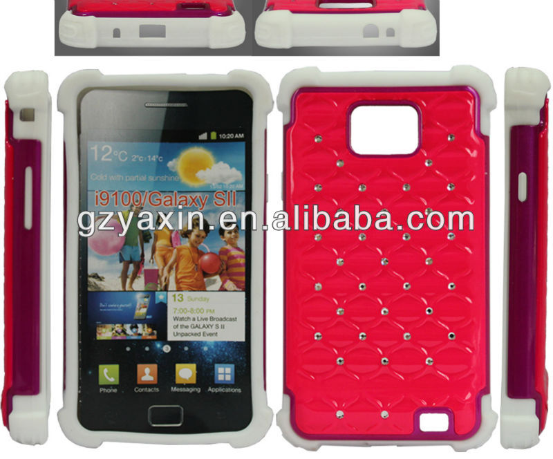 2014 bling rhinestone diamond case for samsung galaxy s2,jewelry phone case for samsung galaxy s2