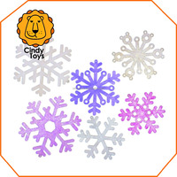 DIY Wooden Craft Hanging Ornaments Snowflakes 6 pcs for Kids