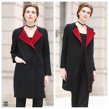 T-WC506 Black and Red Long Winter Coats New Fashion Clothes Women