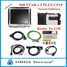 MB Star C5 with Military CF-19 Toughbook Star Diagnosis c5 Newest HDD for MB Star C5 SD Connect for MB Car/Truck Diagnosis