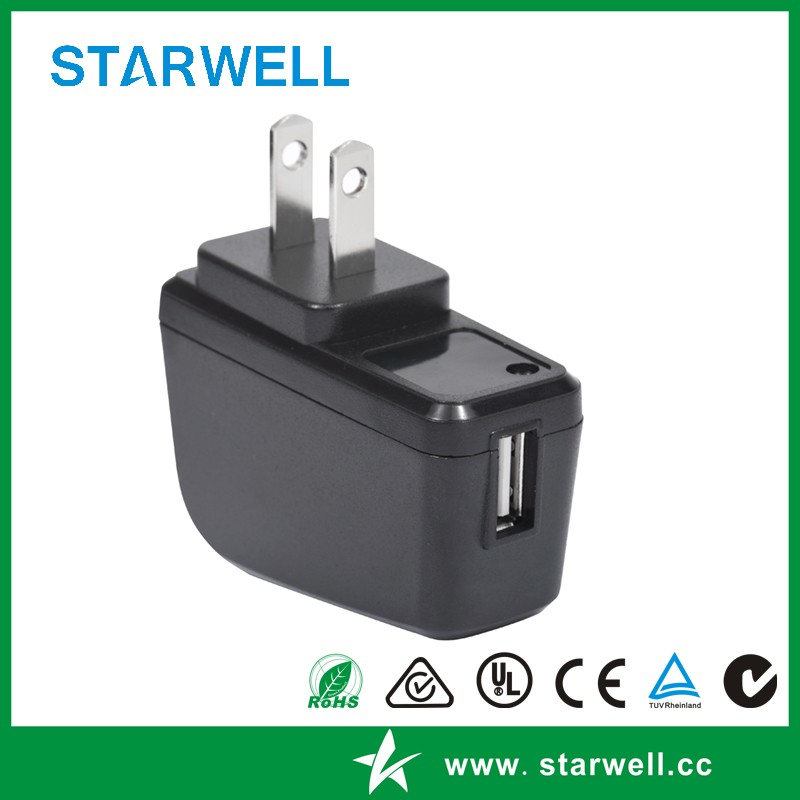 12v 0.5a wall usb charger for mobile phone