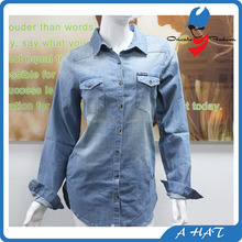 100% Cotton Denim Women T-Shirt