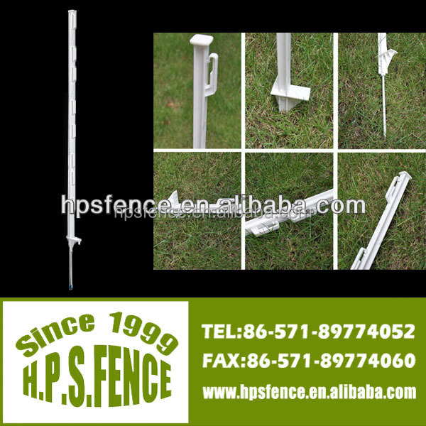 Fence Stakes Poles For Use With All Conventional Tapes, Wires and Ropes