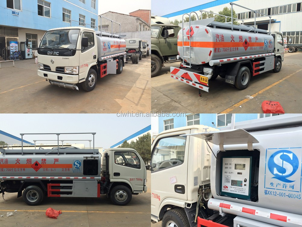 3000~5000 liter refueling oil tank truck, 3~5 m3 refueling tank truck, 1000 gallons refueling mobile vehicle