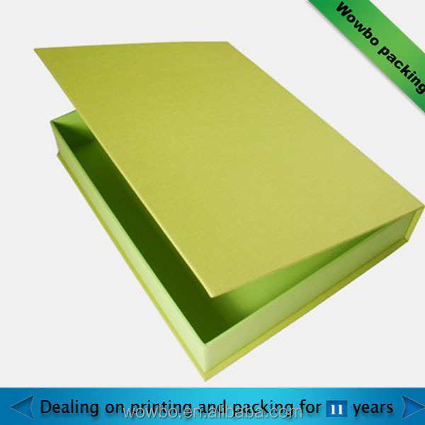 green biodegradable custom made fancy hard paper gift box
