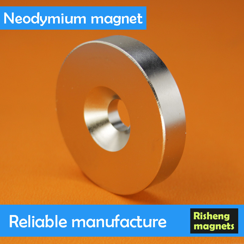 Largest Neodymium Magnet Disc Shaped Neodymium Magnet Magnet with Screw Hole