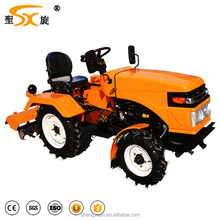 Multiple functions 20hp 2wd mini farm tractor with plough
