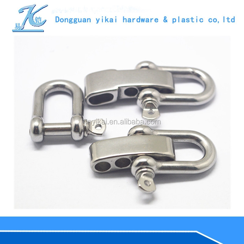 New Paracord bracelet shackle/stainless steel adjustable shackle/adjustable shackle for paracord bracelet bracelet