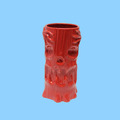 Hot Sale Red Porcelain Tiki Bar Glass Mug