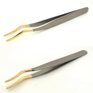 China Wholesale Eyelash Extension Tweezer, Colorful Plating False Eyelash Applicator