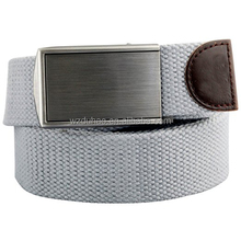 Fashion Mens Brush Buckle Casual Cheap Webbing Cotton Canvas Belt
