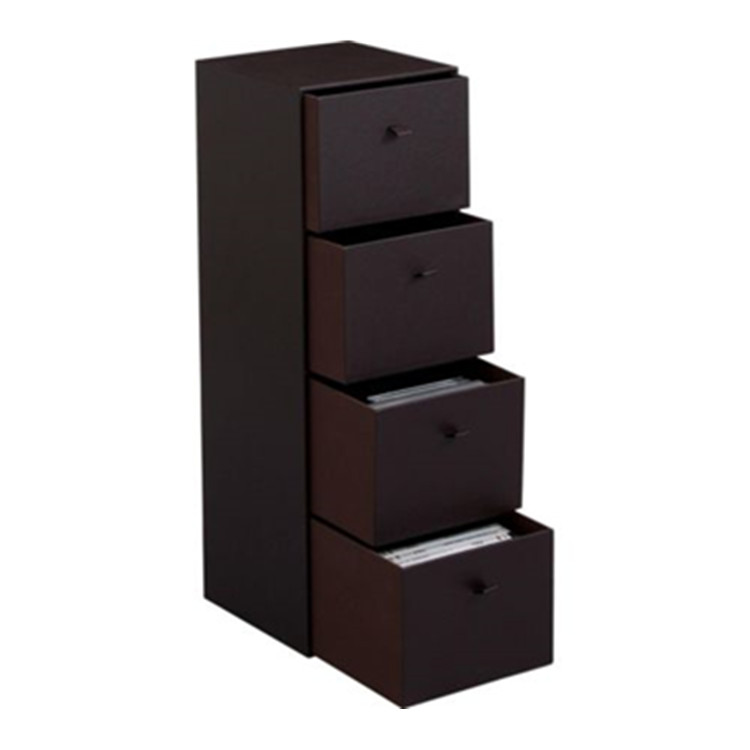 HOME office 4 Drawer PU Leather Effect CD DVD Media Storage Holder