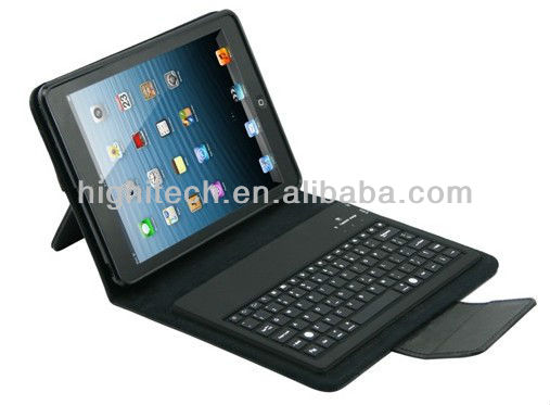 Wireless Bluetooth Keyboard Folding Leather Case for iPad Mini