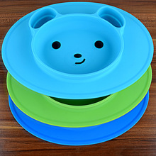 Safety Food Grade Silicone plate FDA and BPA free silicon baby placemat plate