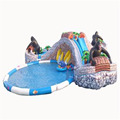 QiHong new giant inflatable commercial water park,inflatable swimming pool, water slide for sale