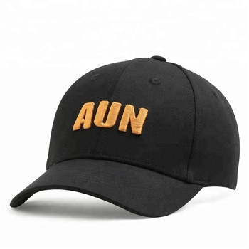 KaPin Letter Embroidered Black Baseball Caps Cotton Snapback Hats