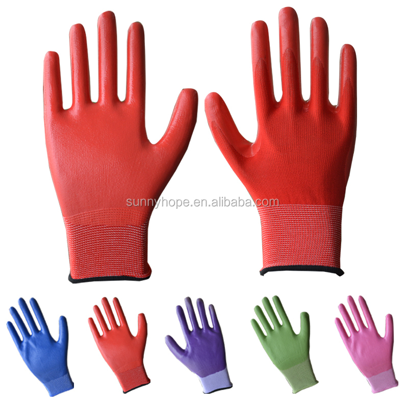 sunnyhope pattern hot sales cute nitrile work gloves