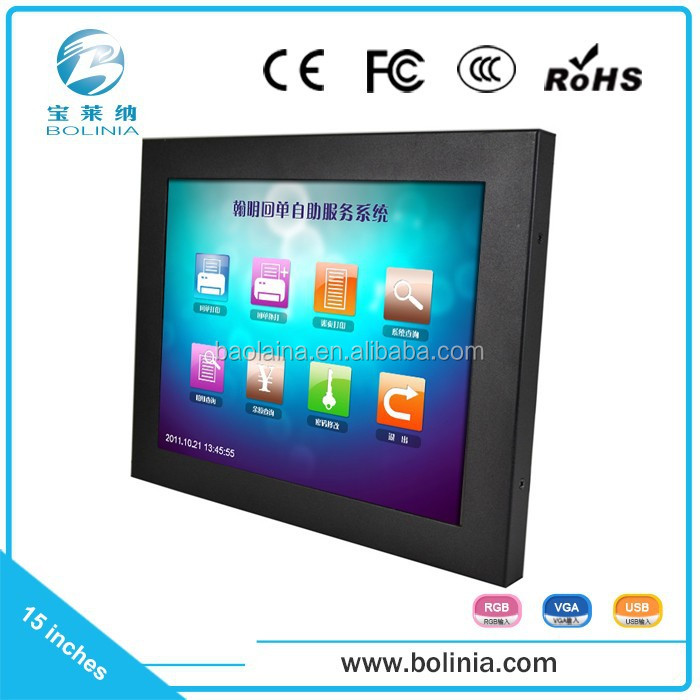 Hot selling 15 inch USB powered touch screen monitor