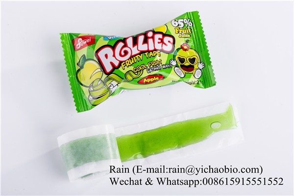 Fruit Rollies Tape Vegetarian Gummy Jelly Candy