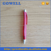 customized logo printing plastic ball pen with refill China wholesaler