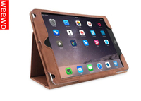 Cowhide Leather Stand Case for iPad mini 4 - Tan