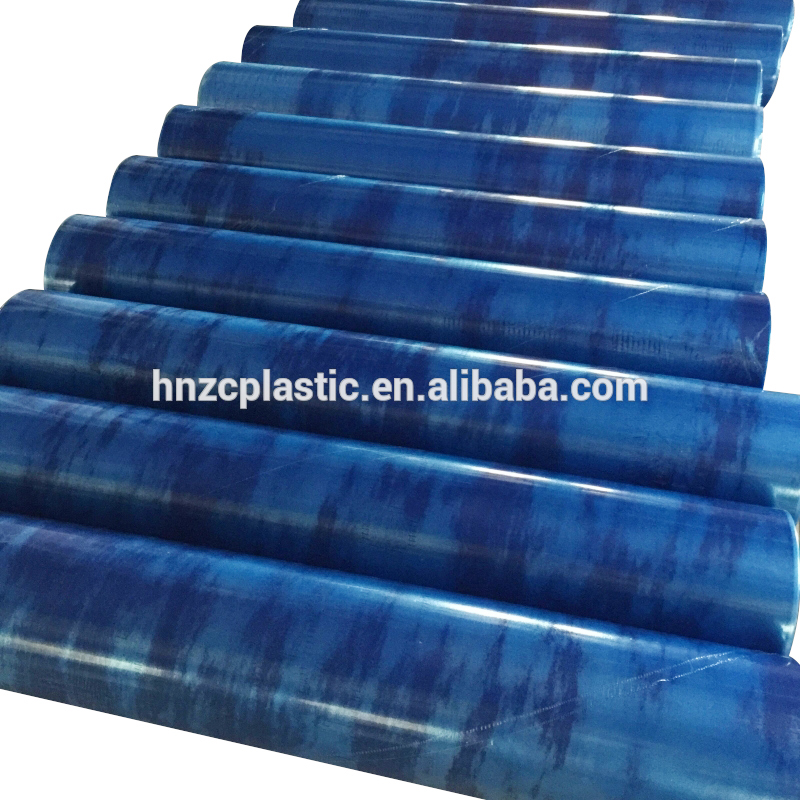 Hot sale plastic pe stretch roll price ldpe recycled blue film