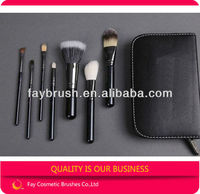 High End 7pcs Makeup Brushes with Mixed Hair