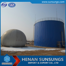 Fireproofing polyester fabric bio gas holder for biogas fermentation