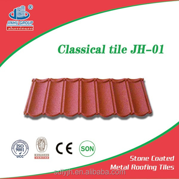 Building materials red stone-coated metal roof tiles,high quality but low price