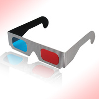 Hot selling good price wholesale customized logo red-cyan anaglyph paper 3d glasses