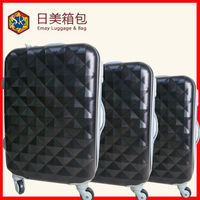 Durable Hard Shell 3 Size ABS Travel Luggage Case Set