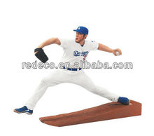 Baseball sport action figures in resin